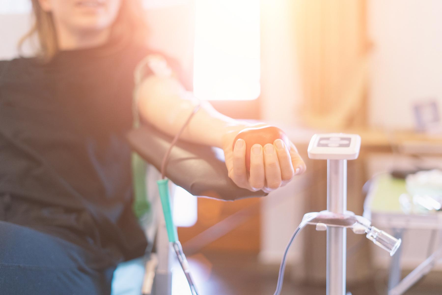 Cancer Survivor Donates Blood