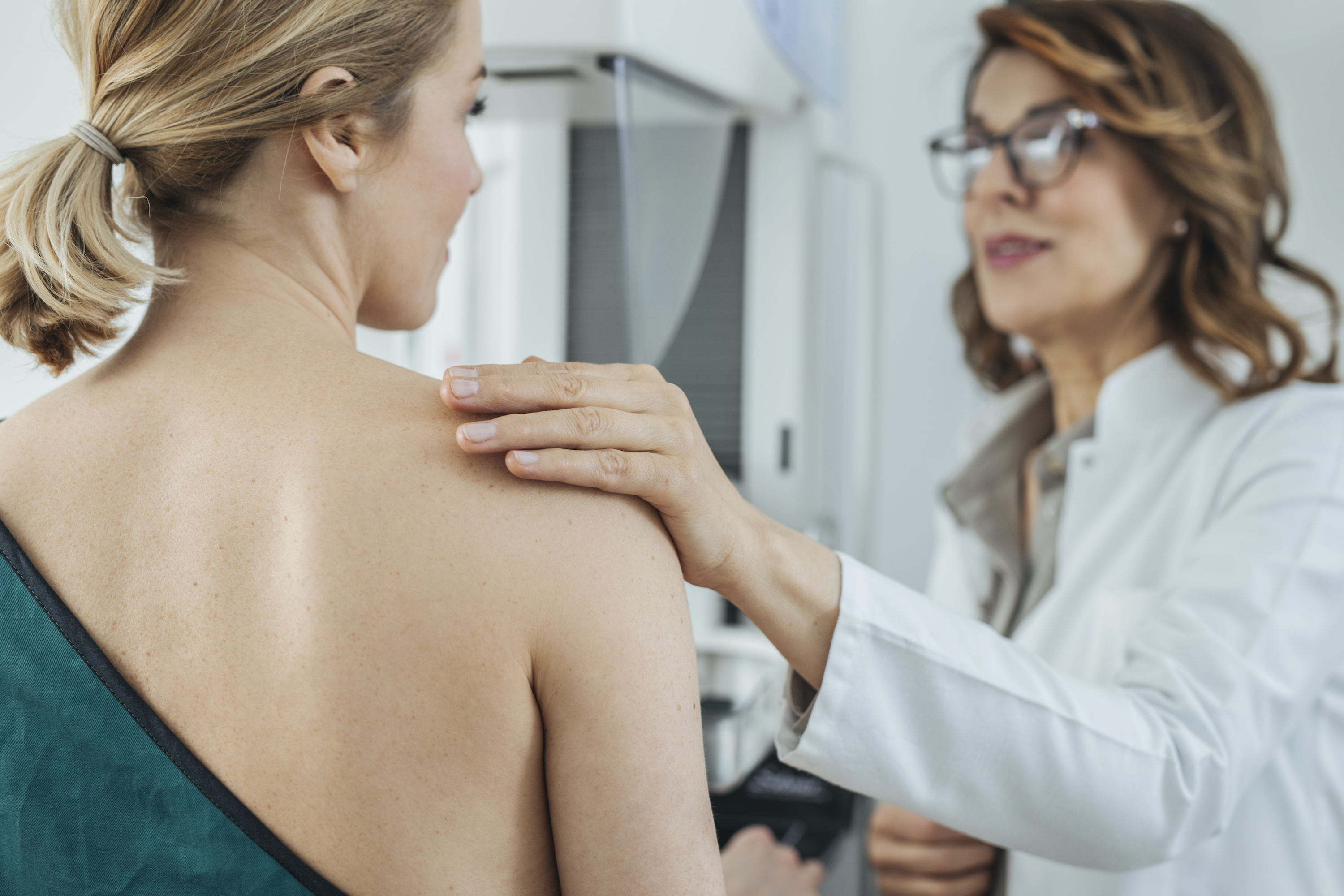 Mammograms can catch calcifications in the breast.